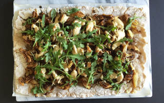 fig and arugula flatbread